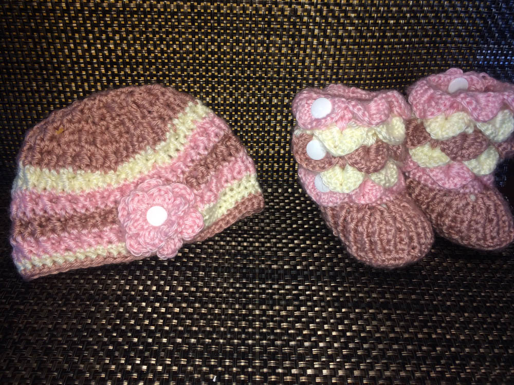 cap and booties